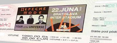 Depeche Mode v Bratislave, 22.6.2009 (Lístky už v predaji)