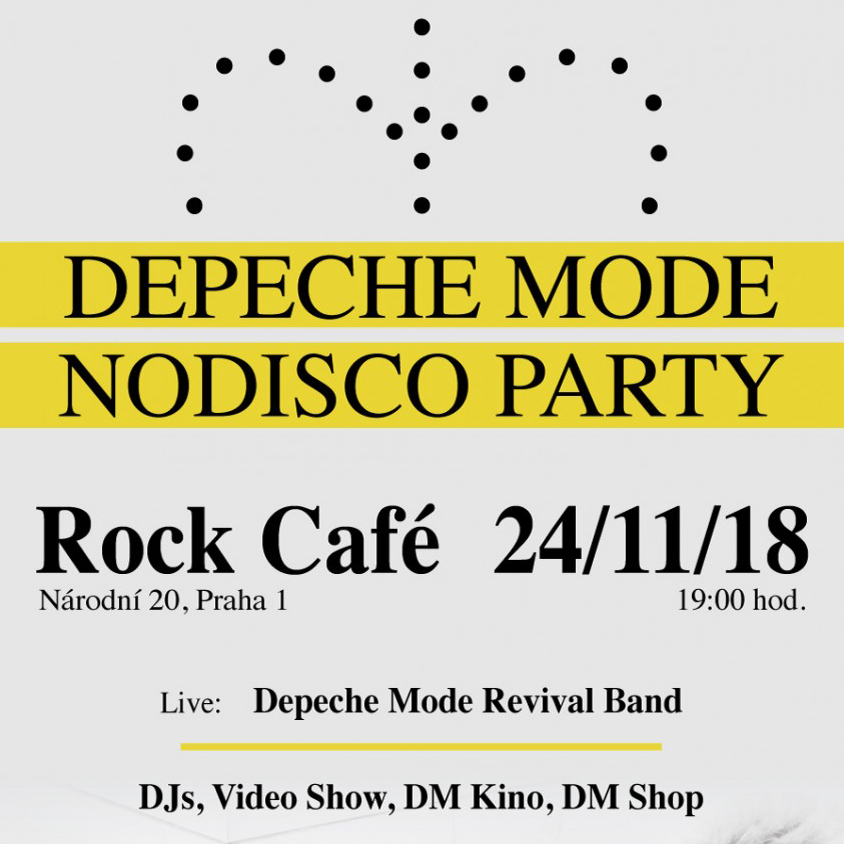 Pozvánka na Depeche Mode Nodisco Party v Prahe 24.11.2018