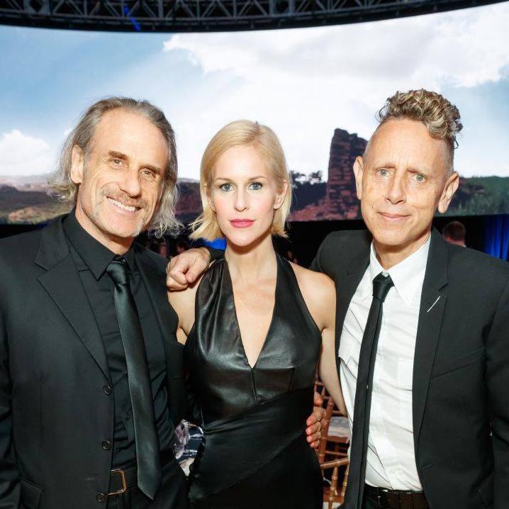 Martin Gore s manželkou na galavečeri charity: water