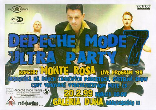 Plagát: Depeche Mode Ultra Party 7