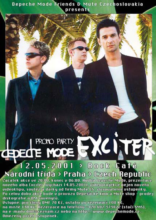Plagát: Exciter Depeche Mode Promo Party