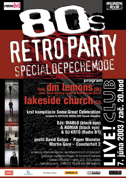 Plagát: 80's Retro Party (Depeche Mode Spacial)