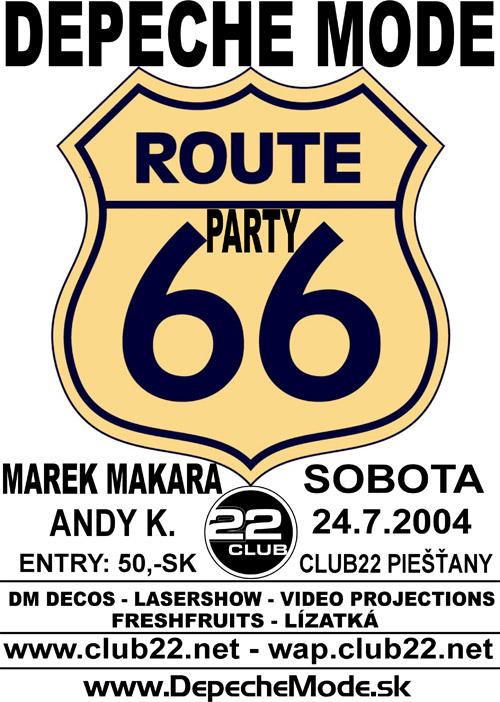 Plagát: Depeche Mode Route 66 Party