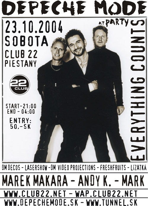 Plagát: Everything Counts at Depeche Mode Party