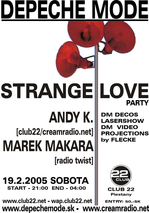 Plagát: Depeche Mode Strangelove Party