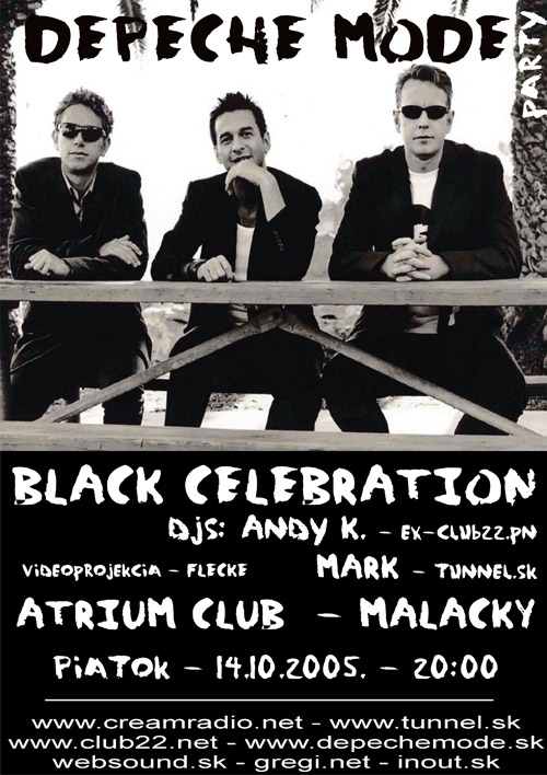 Plagát: Depeche Mode Black Celebration Party