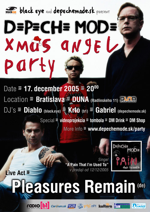 Plagát: Depeche Mode Christmas Angel Party