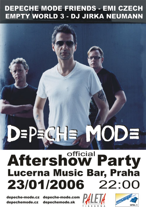 Plagát: Depeche Mode Official Afterparty 2006