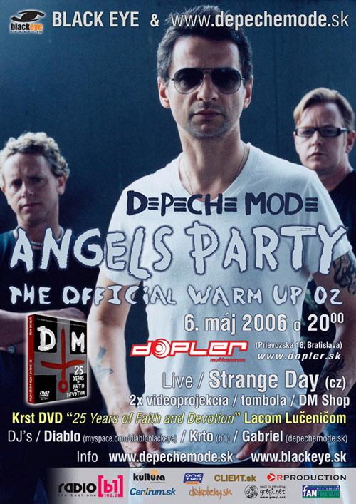 Plagát: Depeche Mode Angels Party (Official WarmUp 02)