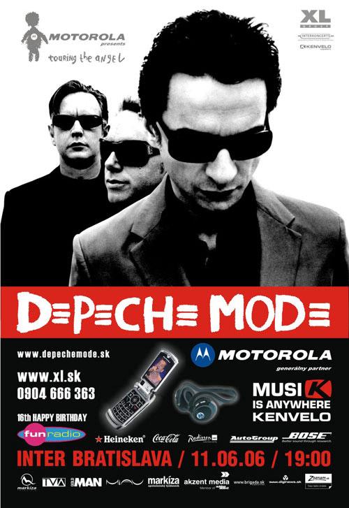 Plagát: Koncert Depeche Mode 2006