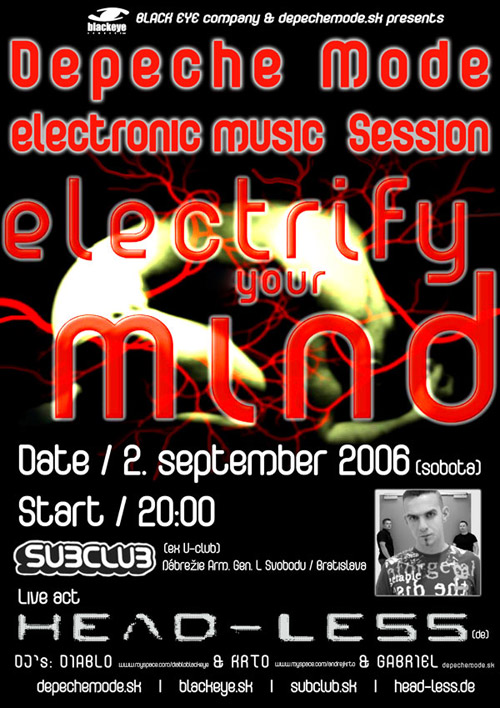 Plagát: Electrify Your Mind (Depeche Mode & Electronic music party)