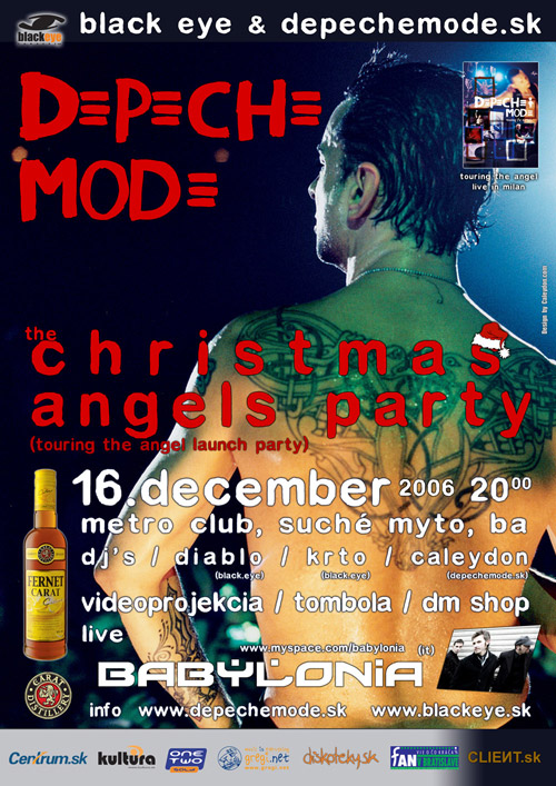 Plagát: Depeche Mode Christmas Angels Party