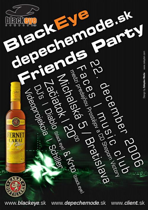 Plagát: Black Eye & DepecheMode.sk Friends Party