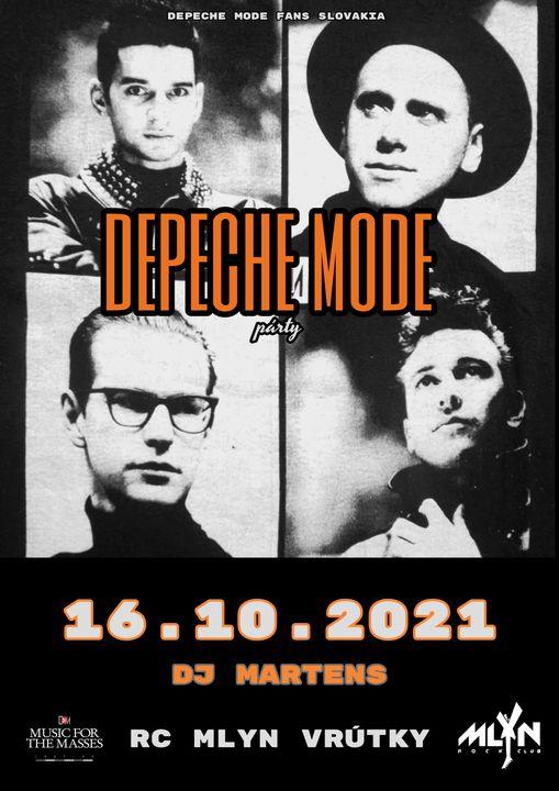 Vrútky: Depeche Mode party