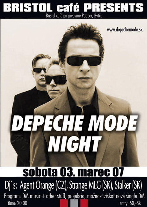 Plagát: Depeche Mode Night