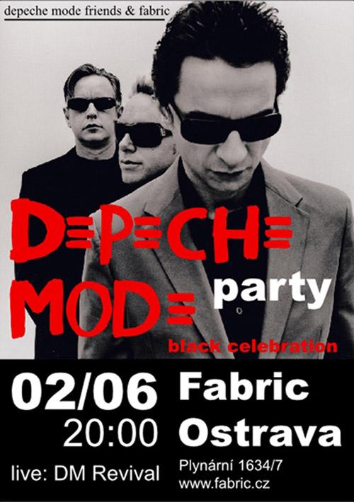 Plagát: Depeche Mode Friends Party - Black Celebration
