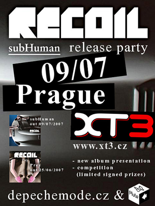 Plagát: Recoil - subHuman Release Party
