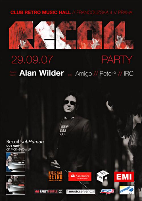 Plagát: Alan Wilder & Recoil Party