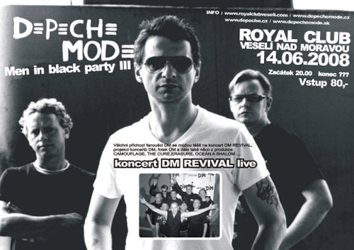 Plagát: Depeche Mode Men in Black Party 3