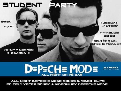 Plagát: Studentská Depeche Mode all night Party