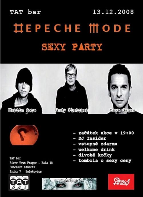 Plagát: Depeche Mode Sexy Party