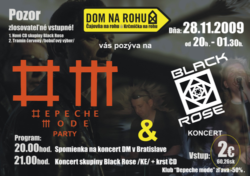 Plagát: Depeche Mode Party + koncert Black Rose