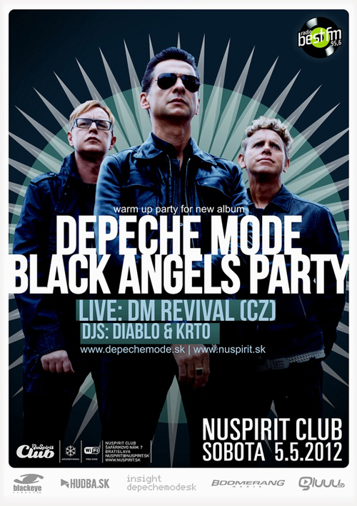 Plagát: Depeche Mode Black Angels Party