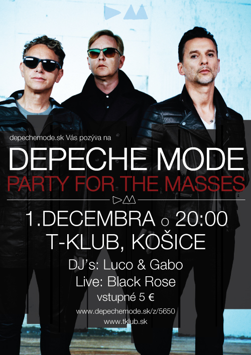 Plagát: Depeche Mode Party For The Masses