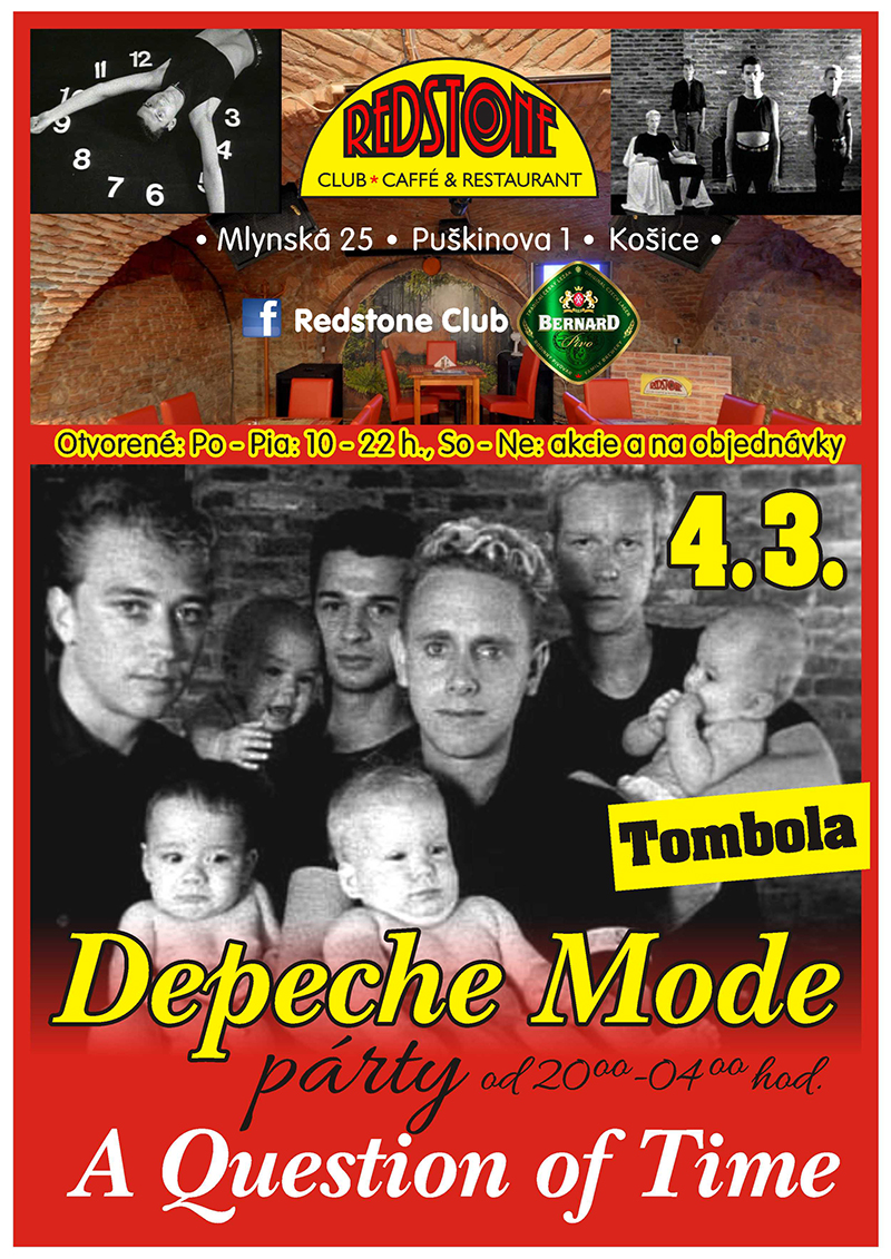 Plagát: Depeche Mode 'A Question Of Time' Party