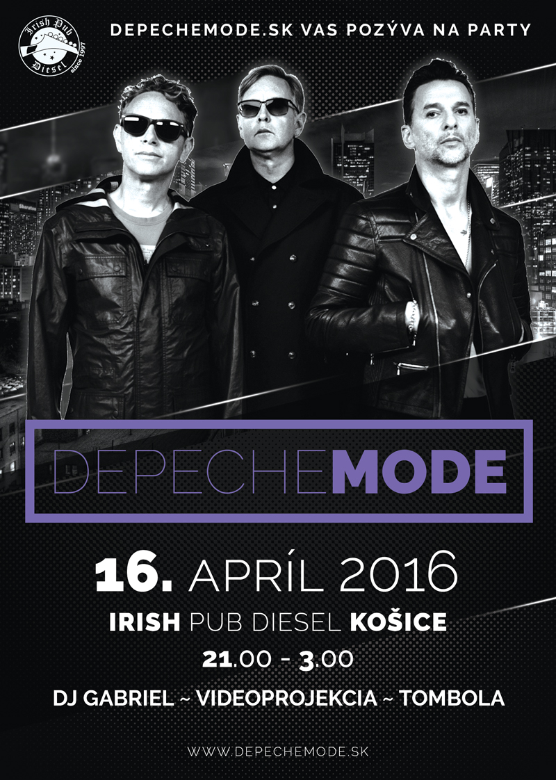 depeche mode party ko ice irish pub diesel 16 apr l 2016 kalend r depeche mode sk. Black Bedroom Furniture Sets. Home Design Ideas