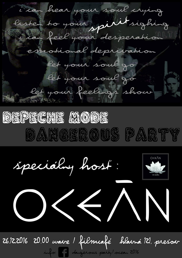 Plagát: Depeche Mode Dangerous Party + Oceán