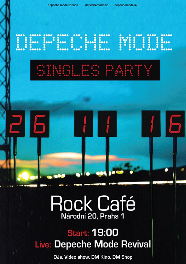 Plagát: Depeche Mode The Singles Party