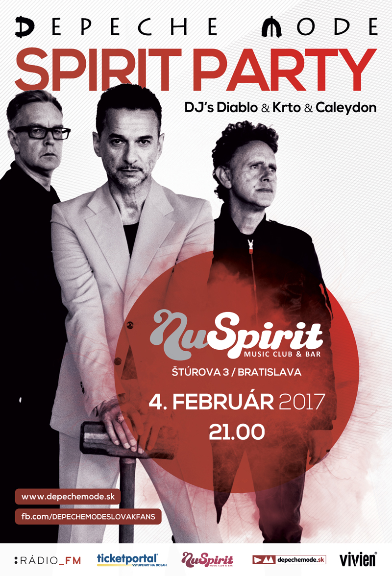 Plagát: Depeche Mode Spirit Party