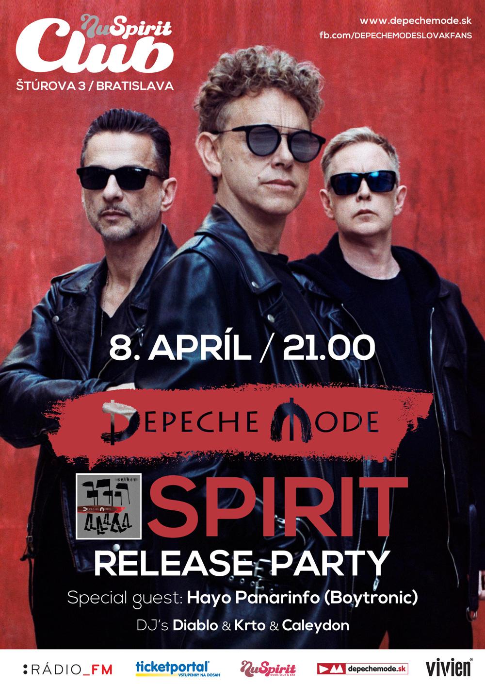 Plagát: Depeche Mode Spirit Release Party