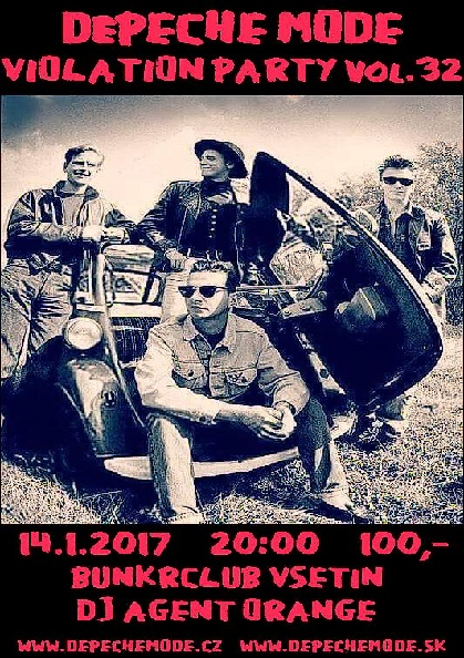 Plagát: Depeche Mode Violation party vol.32