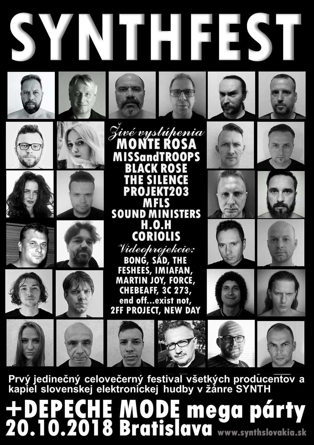 Plagát: SYNTHFEST Slovakia 2018 + DEPECHE MODE mega párty
