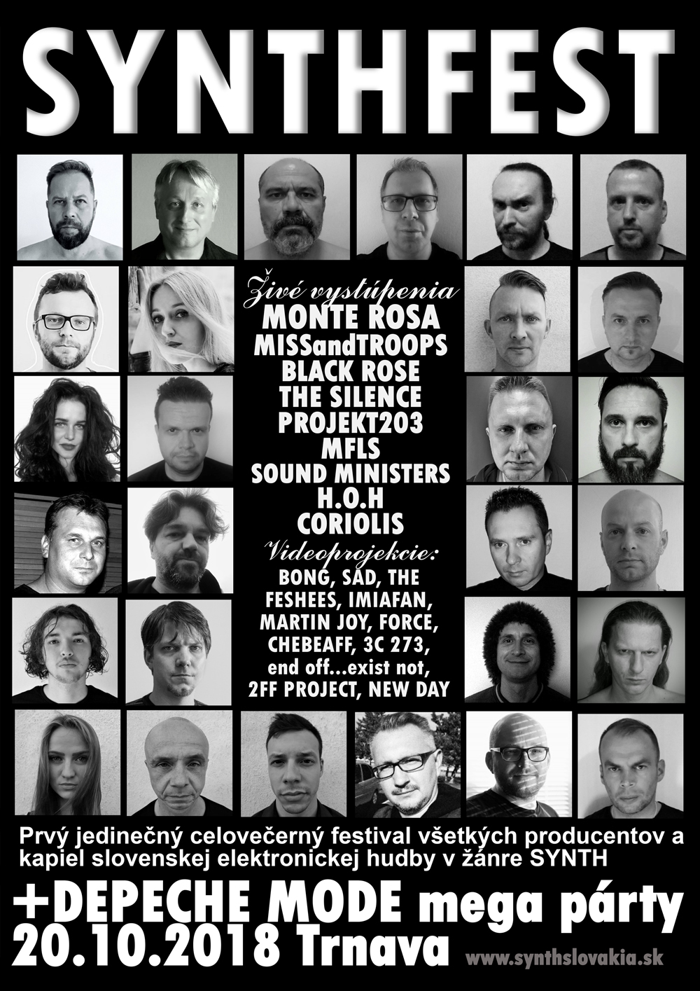 Trnava: SYNTHFEST Slovakia 2018 + DEPECHE MODE mega párty