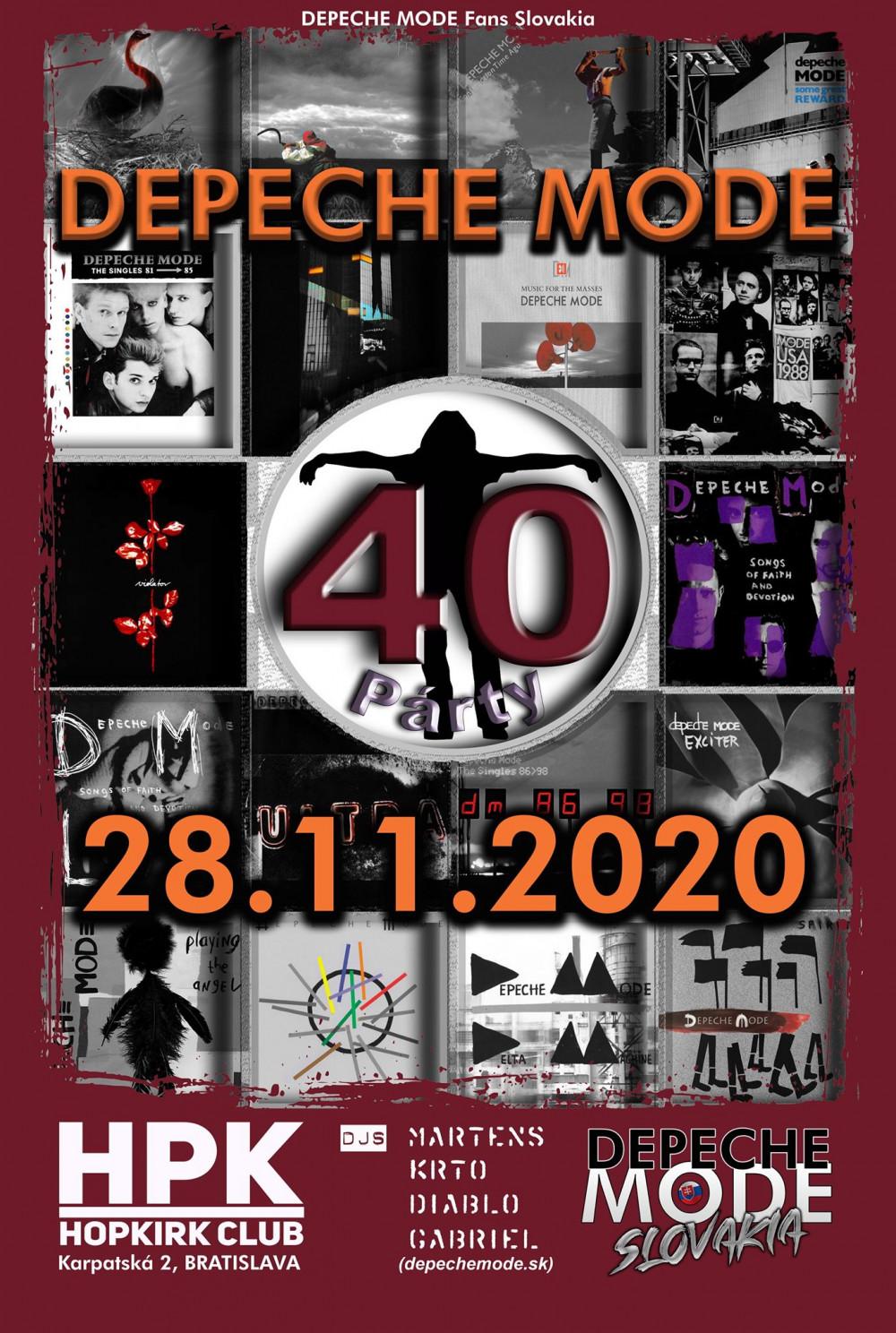 Bratislava: Depeche Mode 40 Party