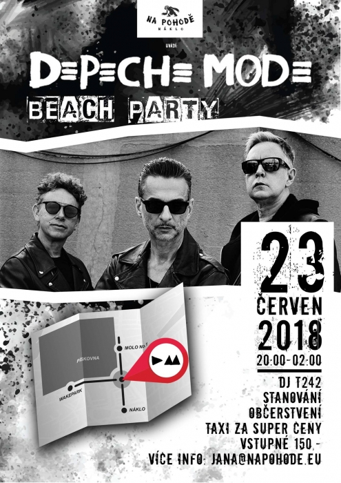 Plagát: Depeche Mode Beach Party