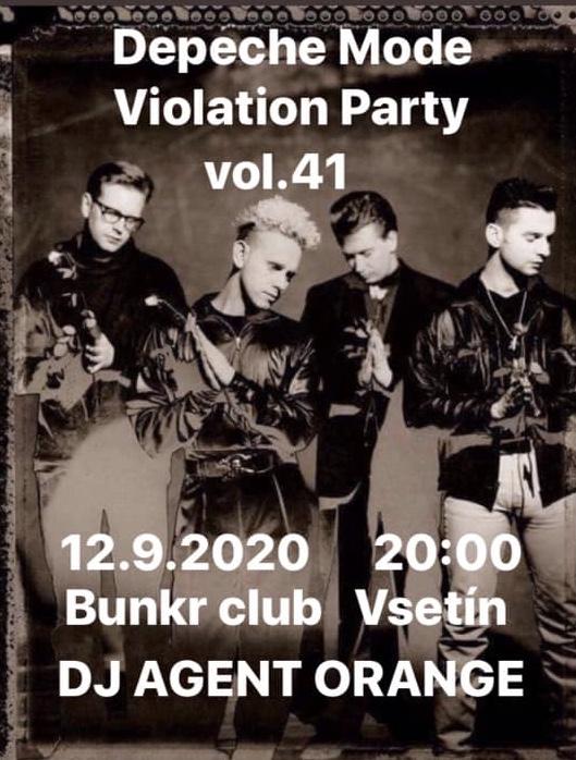 Plagát: Depeche Mode Violation party vol.41