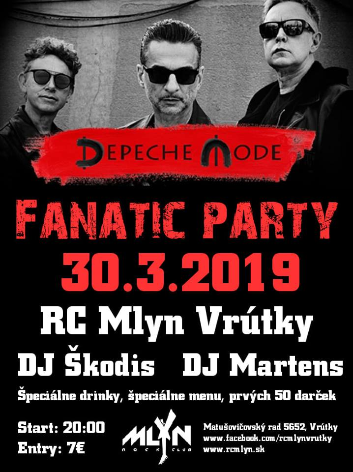 Vrútky: Depeche MODE Fanatic PARTY