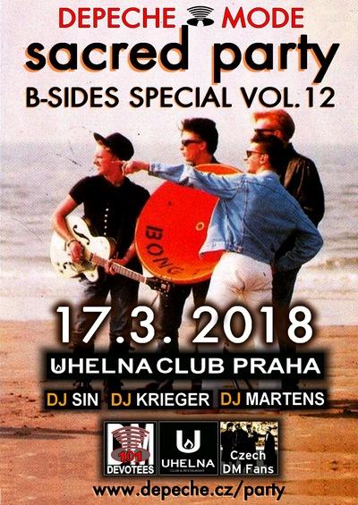 Praha: Depeche mode Sacred party (DM B-sides Special 12.)