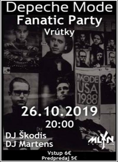 Plagát: Depeche MODE Fanatic PARTY