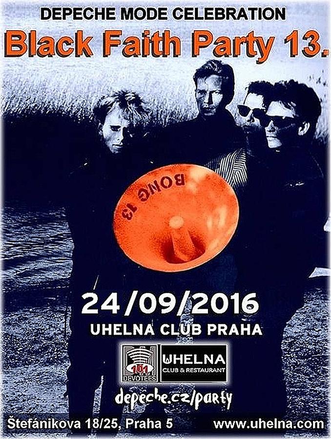 Plagát: Depeche Mode Black Faith party 13.