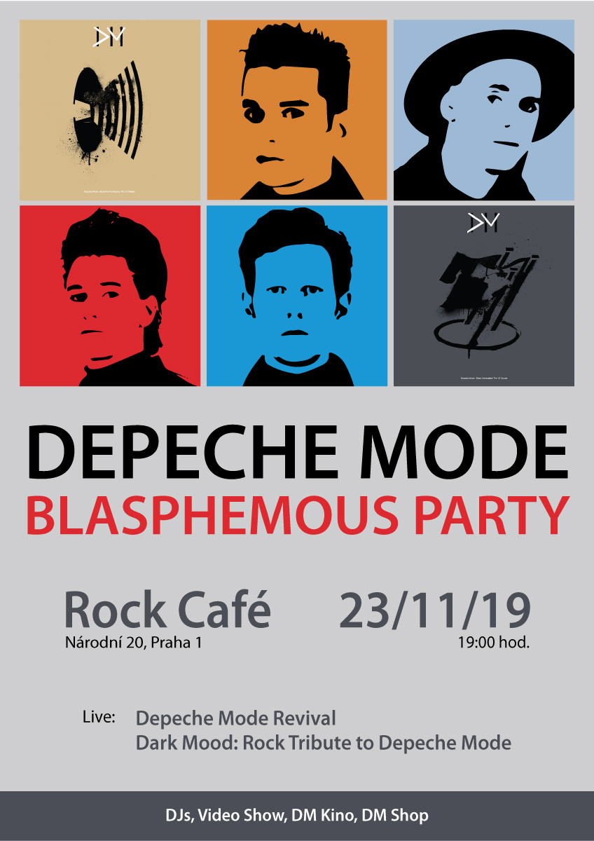 Plagát: Depeche Mode Blasphemous Party