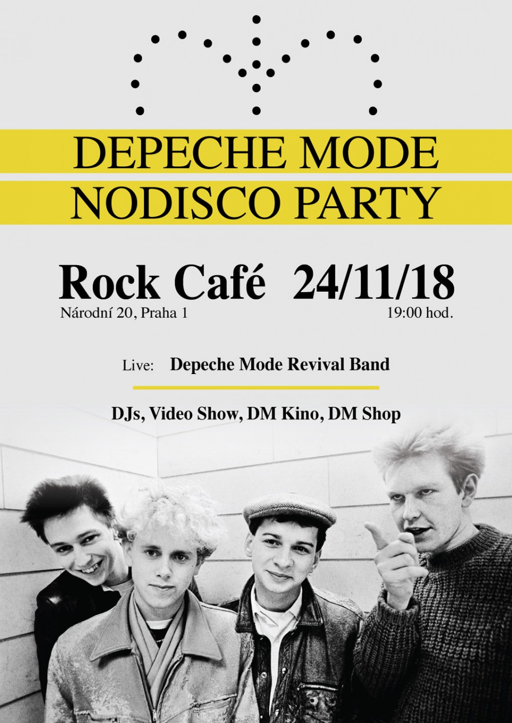 Praha: Depeche Mode Nodisco party