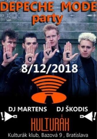 Plagát: Depeche Mode párty