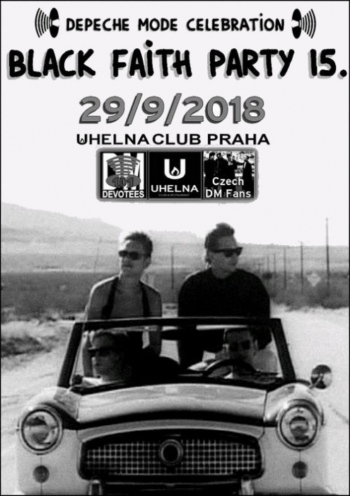 Plagát: Depeche Mode Black Faith Party 15.