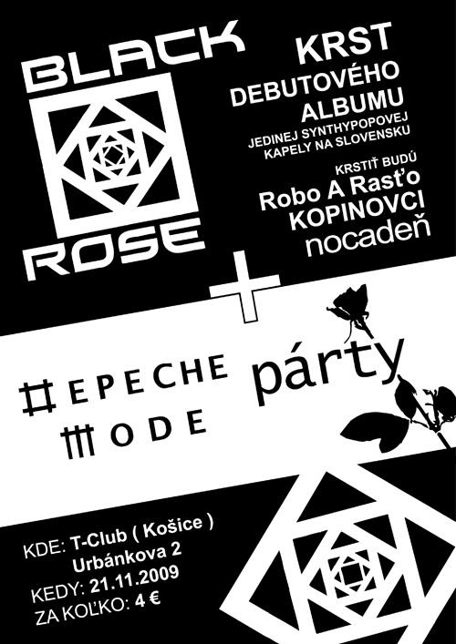 Plagát: Depeche Mode Party + Krst CD Black Rose