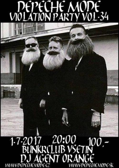 Plagát: Depeche Mode Violation party vol.34